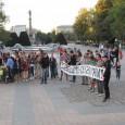 Протест срещу лагер за бежанци в Русе