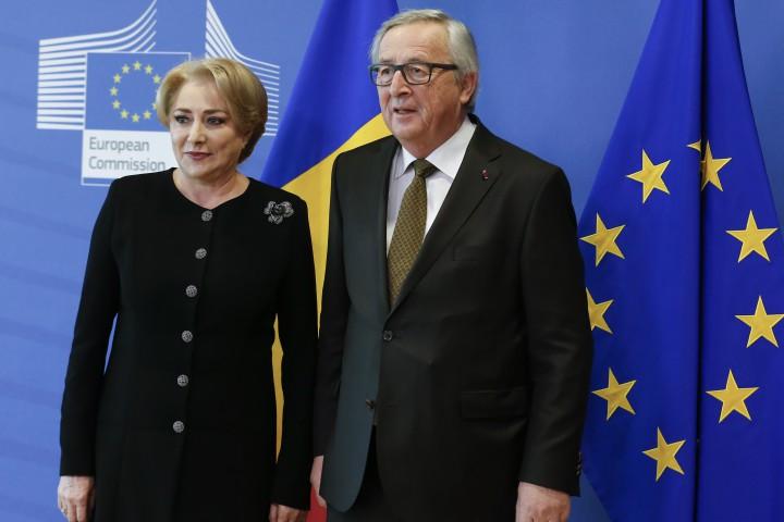 Юнкер прие днес новия румънски премиер Виорика Дънчила. Това е